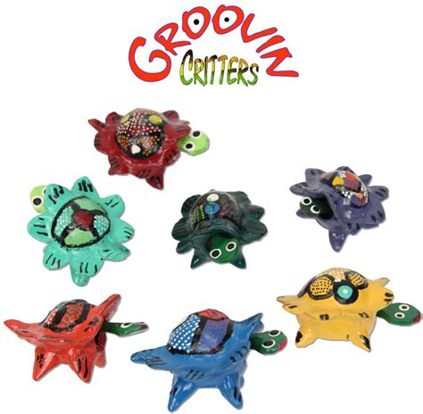 bobblehead turtle groovin critters bobblehead sea turtles painted in mexico