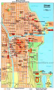 Chicago Hotel Map by Chicago Downtown Map High Quality Maps Of Chicago Downtown