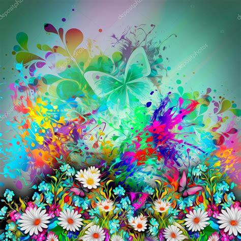 fiori immagine sfondo con fiori e farfalle foto stock 169 valik4053022