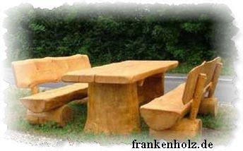 bank aus rundholz frankenholz natur pur