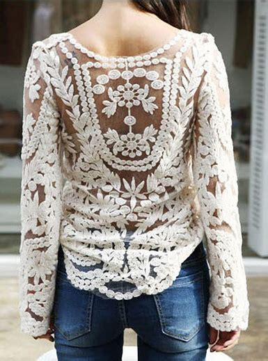 Sheer Lace Sleeve Top embroidered sheer pull lace top white sleeves