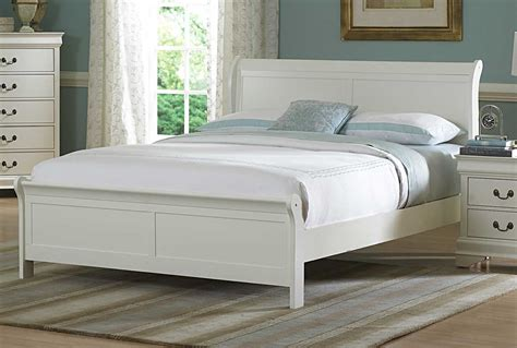 white headboard full size bed homelegance marianne bed white 539w 1