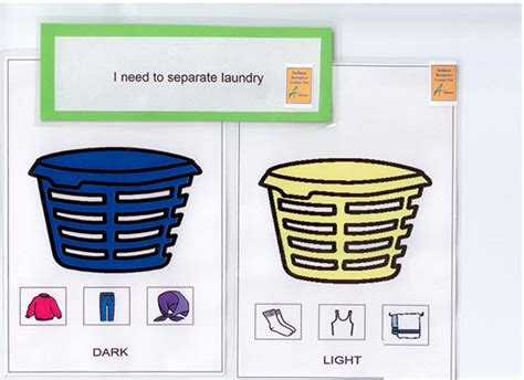 Visual Supports Separated Laundry
