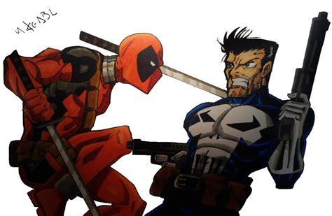 deadpool vs the punisher deadpool vs punisher by mikees on deviantart