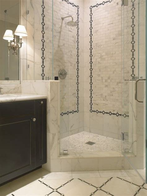 like the shower with the glass tiles traditional bathroom sdg architects bathrooms rain shower head corner