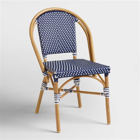 Bistro Armchair by Navy Kaliko Bistro Chairs Set Of 2 World Market