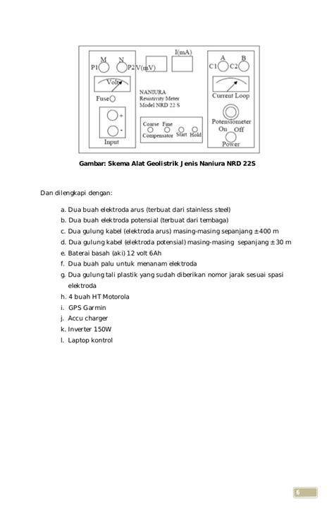 Geolistrik Resistivity Meter Naniura Nrd 300 laporan teknis kajian kesetabilan lereng dengan metode