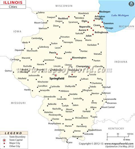 Cities in Illinois, Illinois Cities Map