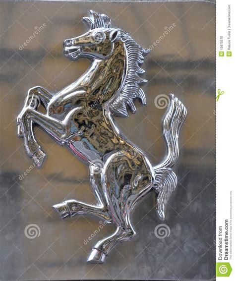 ferrari horse ferrari horse logo silver