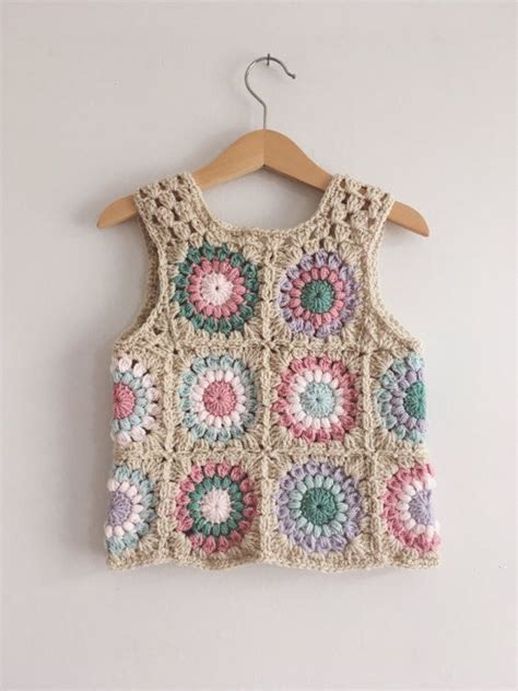 crochet vestido para nena a ganchillo hecho por tasha las 25 mejores ideas sobre chaleco crochet en pinterest
