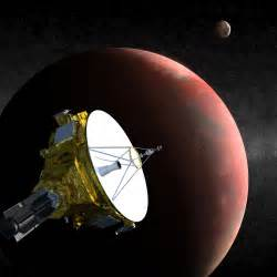 Artist s conception of the new horizons spacecraft flying past pluto
