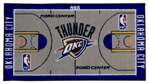 nba oklahoma city thunder rug basketball runner carpet