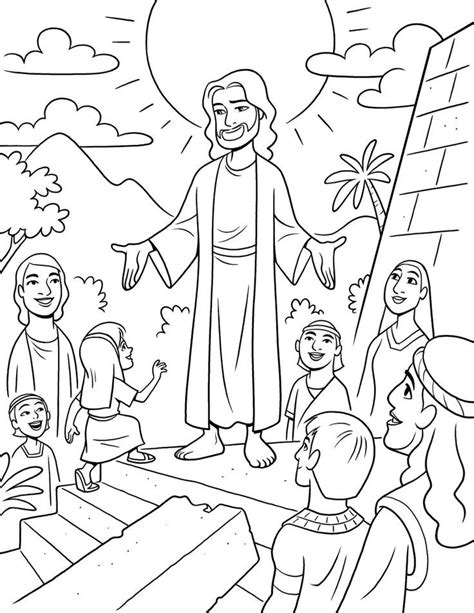 coloring page of jesus teaching jesus in the temple coloring page coloring home