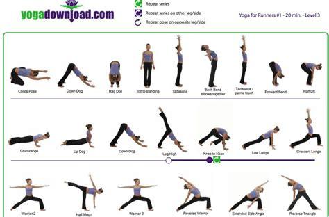 printable yoga poses for runners quick 20 minute yoga for runners run pinterest