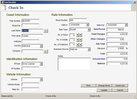 form design for hotel management system hotel reservation system codeproject