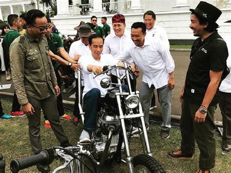 Beli Baht Hari Ini jokowi beli motor chopper emas rp140 juta hari ini tiba di istana bogor okezone news