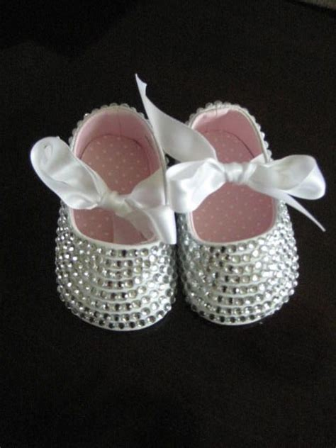 baby sparkly shoes white sparkly bling infant baby booties shoes custom