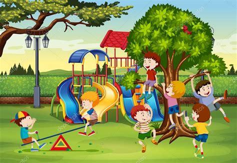 imagenes hermosas de niños jugando muchos ni 241 os jugando en el parque archivo im 225 genes