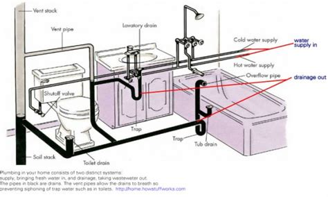 Plumbing Layout For Bathroom by Bathroom Plumbing Venting Bathroom Drain Plumbing Diagram