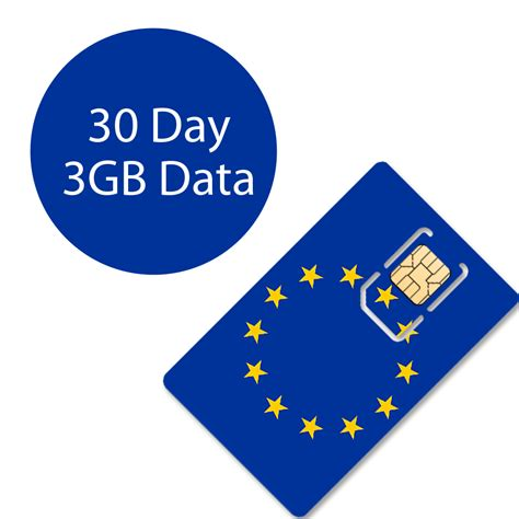 Voucher 3 Data 3gb 30 days 3gb europe data only sim card simcard sg