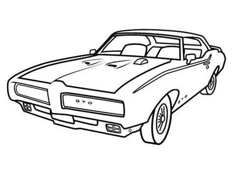 coloring pages of classic cars a classic pontiac muscle car coloring sheet for kids