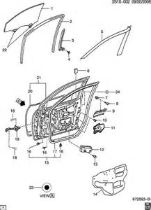 Parts For Pontiac Vibe 2003 Pontiac Vibe Door Hardware Front