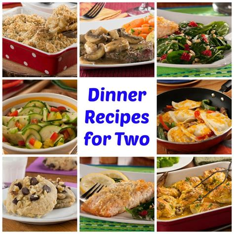 dinner ideas 50 easy dinner recipes for two mrfood