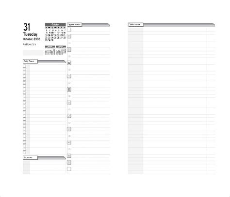 Real Estate Daily Planner Template 8 Free Daily Planner Templates In Microsoft Word Download Free Premium Templates