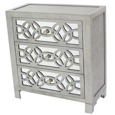 libby silver mirrored dresser libby silver mirrored 3 drawer chest storage mirror