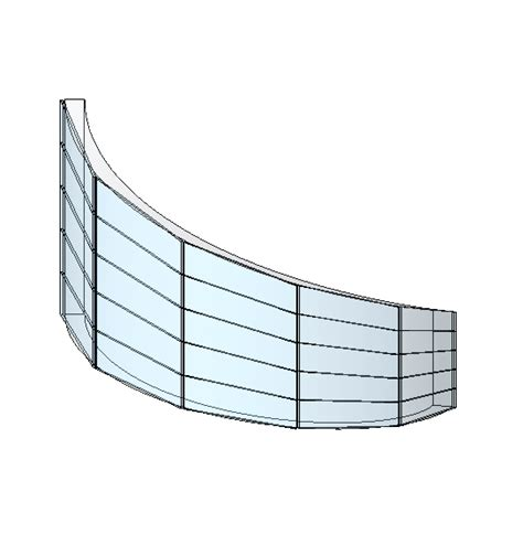 curved curtain wall revit revitcity com how to edit a curtain wall grid in a