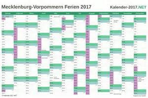 Kalender 2018 Schulferien Mv Ferien Meck Pomm 2017 Ferienkalender 220 Bersicht