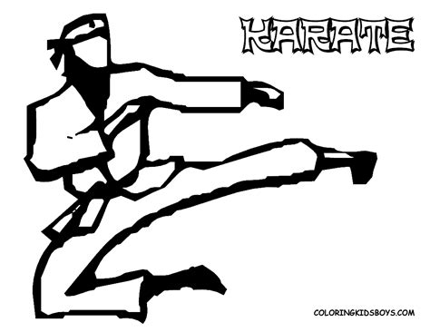 coloring pages karate kid karate coloring pages for kids karate stuff pinterest