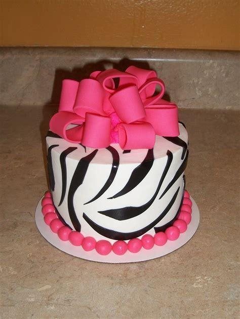 pink black  white zebra  bow cakecentralcom