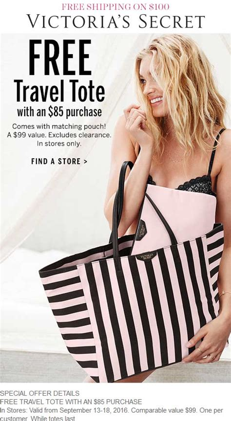 s secret offers victorias secret coupons 99 tote pouch free with 85
