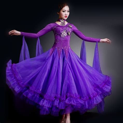 swing costume 6 colours woman high end big swing standard ballroom dance