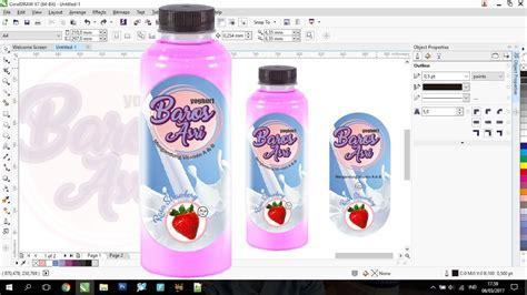 membuat stiker label undangan tutorial contoh cara membuat desain label kemasan botol