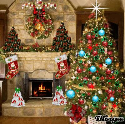 christmas fireplace picture  blingeecom