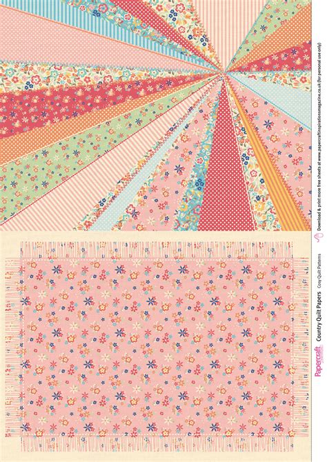 Quilt Paper Craft - country quilt free digital papers papercraft inspirations