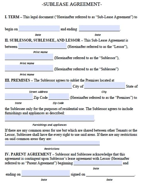 Office Sublease Agreement Template free alaska sublease agreement form pdf template