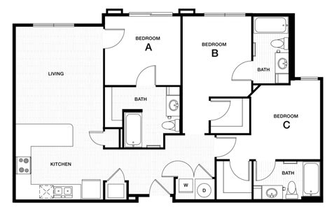 image of floor plan professional apartment floorplans douglas heights