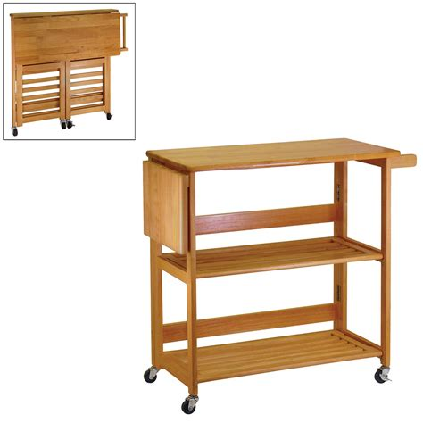 winsome wood 34137 foldable kitchen cart lowe s canada