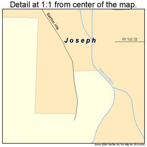 map of joseph oregon area joseph oregon map 4137900