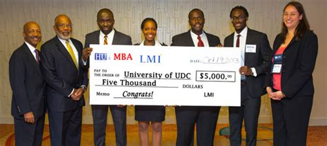 Mba 1st Year Us Competition udc graduate students from school of business and