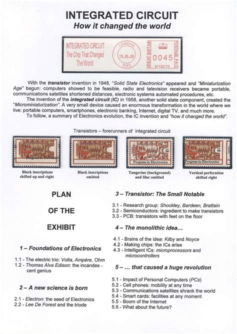 integrated circuit leg number philatelic exhibit integrated circuit how it changed the world