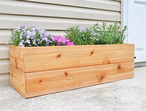 Diy Modern Planter by Diy Modern Cedar Planter Diy Huntress