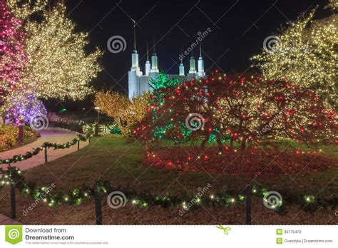 festival of lights maryland lds temple festival of lights stock photos image 35775473
