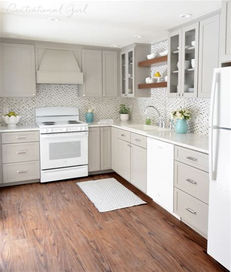Grey And White Kitchen Cabinets Grey Kitchen Cabinets And White Appliances Quicua