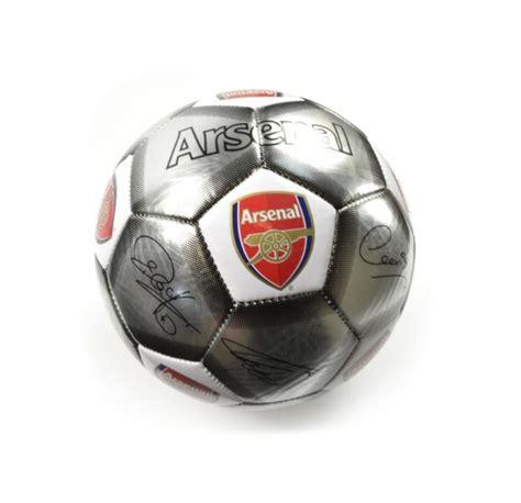Arsenal Signature 6 arsenal fc football soccer size 5 silver signature