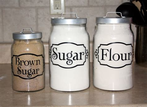 Labels For Kitchen Canisters | everything vinyl kitchen canister labels