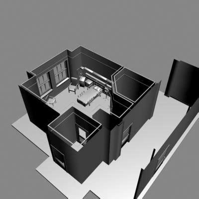 3d room model hospital room 3d model